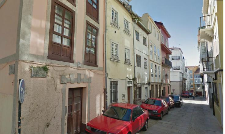 R. da Curtiduría na Xudaría da Coruña. GoogleEarth