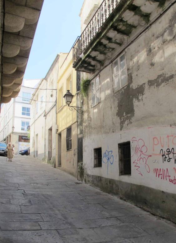 Rúa da Sinagoga, na Xudaría da Coruña. Foto: Eva L. Parguinha